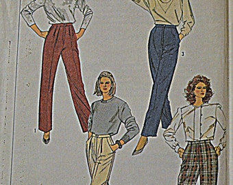 Vintage Simplicity Sewing Pattern 7664 Misses' Pants waist 24 inches Uncut Complete Fuss Free Fit
