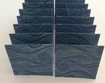 Mini Cards 16 Waves - blank for thank you notes 3 x 3