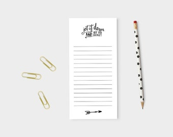 """Jot It Down Notepad   50 Sheets   Motivational Note Pad   Black & White   3"""" x 9"""""""