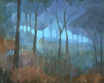 The Lost Trail, Original Forest Woodland Painting
