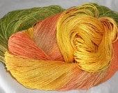 Hand Dyed 100% Bamboo Yarn - MORNING GLORY  - 630 yds