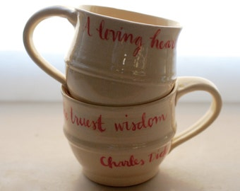 Loving heart quotation cup