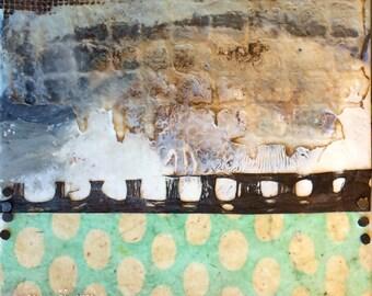original encaustic painting-  Rough