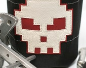 8-bit Grumpster, Hand Crafted Skull Chalk Bag and Belt - Rock Climbing