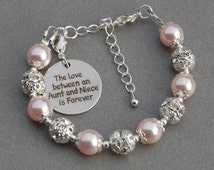 Aunt Niece Gift, Niece Aunt Jewelry, The Love between an Aunt and Niece is Forever, Gift from Aunt, Gift for Niece, Under 30, Aunt Gift