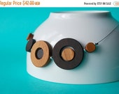 50% off Modern wood necklace - Toasted bubbles 9