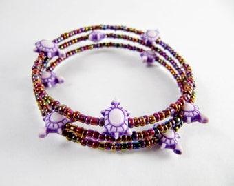 Purple Turtle Bracelet