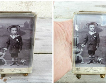 Vintage Antique Victorian 1890/1900  French  Ormoulu Glass Photo Frame