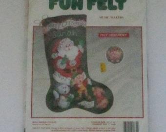 Christmas Stocking Kit, DIY Christmas Stocking, Needle Treasures Christmas Stocking, Music Makers Needle Treasures Christmas Stocking 5577