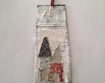 Original Mixed Media Collage - house