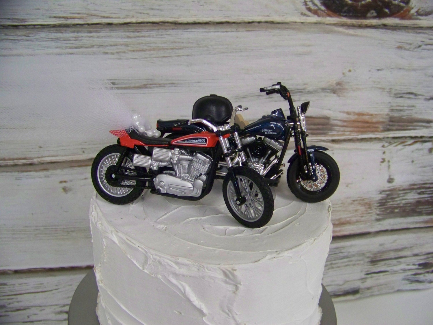 Motorcycle Cake Topper Wedding Cake Topper Bride and Groom