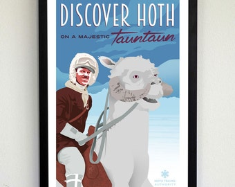 Discover Hoth - Star Wars Travel Poster