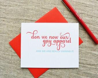 Letterpress Holiday Card - Gay Apparel - NQH-165