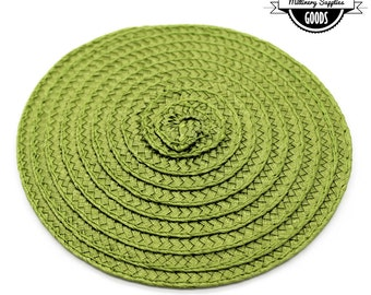 1 - Spring Green- Straw - Fascinator - Hat Base - Hat Disk - Hat Foundation - Millinery