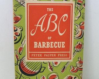 The ABC of Barbecue Cookbook, 1957 Cookbook, Barbecue Cook Book, bBQ Cookbook, Vintage Cookbook, MCM, Collectibles, Peter Pauper Press