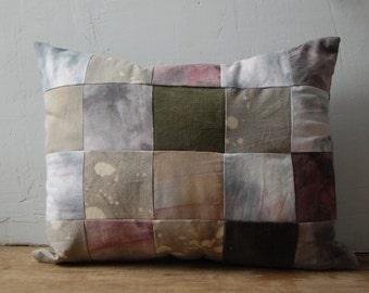 FOLK hand-dyed patchwork cushion with kapok no. 1