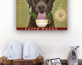 Brown Dog Labrador Coffee Company Canvas Art graphic art on gallery wrapped canvas by stephen fowler