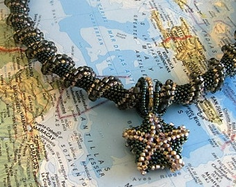 Cellini Spiral Beaded Necklace (Caribbean)