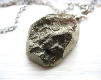 Pyrite Druzy Necklace, Fools Gold Pyrite Druzy, Handmade artisan Jewelry, Druzy Pendant Chain Necklace, Gemstone Necklace, Pyrite Jewelry