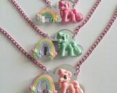 Sale!!! Pony cloud rainbow deco Necklace
