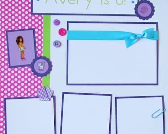 Lego Friends BIRTHDAY 12x12 Premade Scrapbook Pages - PeRSoNaLiZeD -