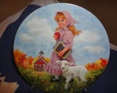 Mary Had A Little Lamb John McClelland 1985 Plate 7TH Series Mother Goose Reco