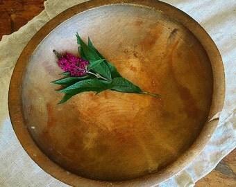 You Knead This... Vintage Primitive Handmade Wooden Wood Dough Bowl Farmhouse Decor Rustic