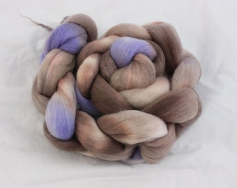Crying in the Rain on Organic Polwarth - Hand dyed roving
