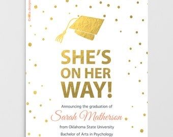printable graduation invitation  graduation announcement, invitation samples