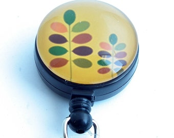 Autumn Leaves, Gold Yellow , ID Badge Holder, Name Badge Reel 256