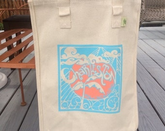 Charleston Grow Your Own Roots Tote - Bright sky blue