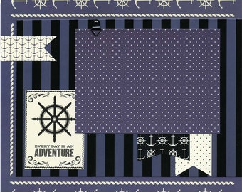 Every Day Is An Adventure - 12x12 Premade Scrapbook Page