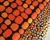 Halloween fabric, Halloween Candy fabric bundle by Ann Kelle, Fall Fabric, Pumpkin, Halloween fabric- Fabric Bundle of 2, Choose The Cuts