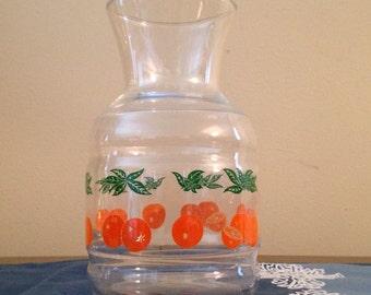 Orange Juice Carafe Pitcher Jar
