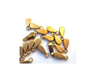 7 Vintage metal dangling beads jewelry findings 8mm length