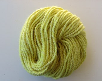 Hand Spun Yarn, Natural Dyed Yarn with Golden Rod Flowers, Hand Spun Alpaca and Merino Yarn Bulky 2 ply 8.9 oz