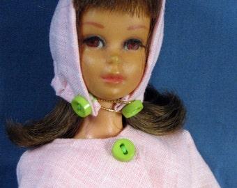 Francie Clothes - Pale Pink Dress, Jacket and Hood Set