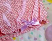 Pink heart bloomers, custom size Valentines Day sweet lolita fairy kei shorts
