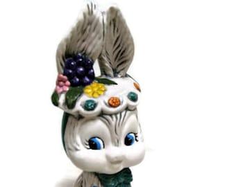 Vintage Easter Spring Bunny Figure