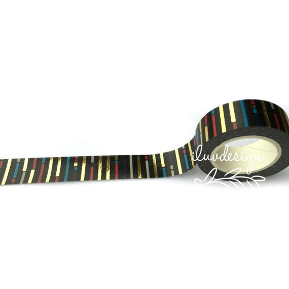 Lines foil tape geometric washi tape 192149 from for Geometric washi tape designs