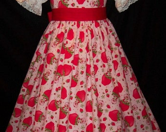 STRAWBERRY SHORTCAKE Jumper Dress Custom Size
