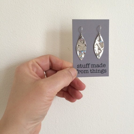 Modern Geometric Aluminium Earrings With Triangle Design - Geometric - Modern - Simple - Gypsy - Festival - Gift