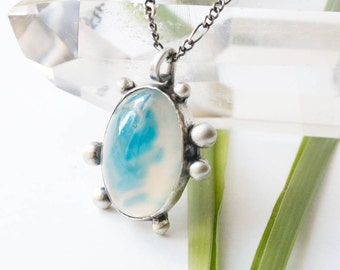 Splash Necklace - Sterling Silver and Agate