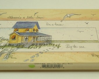 House By The Sea 80152 Wood Mounted Rubber Stamp By Stamp Happens