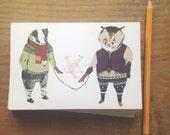 Mittens Postcard