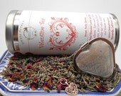 Valentine Tea Gift Set with Tea and Heart Tea Ball - Tea Ball, Loose Tea, Herbal Tea, Tisane, Tea Strainer, Infuser, Tea Brewing