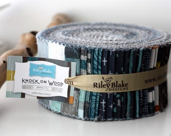 SALE 2.5 inch strips KNOCK ON Wood Jelly Roll fabric by Riley Blake Designs 40 strips