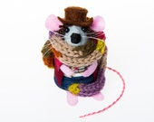 Tom Baker Doctor Who Mouse Artisan Ornament - felt mouse rat mice hamster cute gift for dr who fan collector - FREE SHIPPING