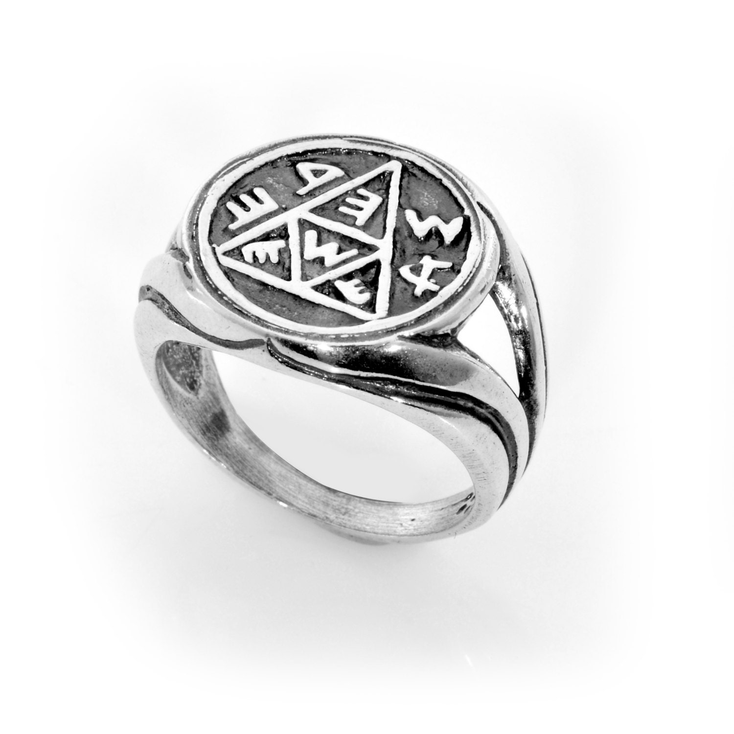 Pregnancy & Conception 925 Sterling Silver Amulet Ring Choose Size
