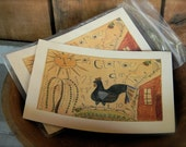 Oh Glorius Day - LIMITED EDITION Folk Art Notecards - from Notforgotten Farm™